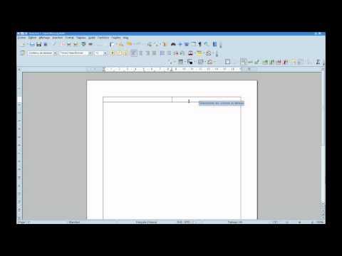 Tutoriel bureautique: réaliser une lettre avec OpenOffice / LibreOffice - partie 1