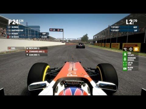 F1 2012, 24th to 1st, 100% race, legend ai, Di Resta, Canada