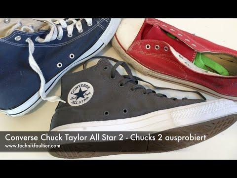 Converse Chuck Taylor All Star 2 - Chucks 2 ausprobiertиз YouTube · Длительность: 3 мин43 с  · Просмотры: более 10.000 · отправлено: 17.01.2016 · кем отправлено: Faultierland
