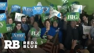 Amy Klobuchar Addresses Supporters In New Hampshire