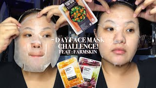 doing the 1 week face mask challenge farmskin superfood face mask review