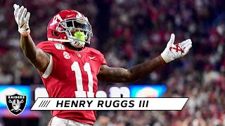 Henry Ruggs III Was a Dangerous Playmaker for the Crimson Tide   Fast Facts   Las Vegas Raiders