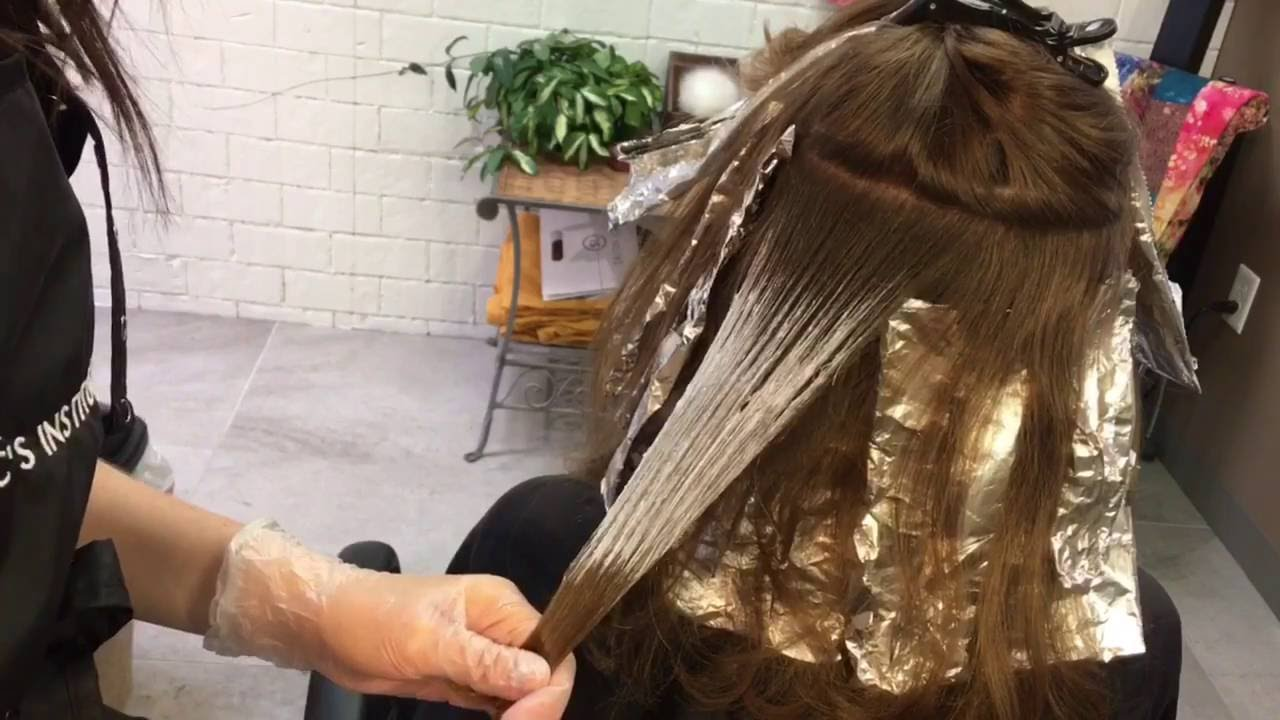 Balayage On Virgin Hair Hair Tutorial Youtube