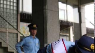 2015.07.18 AKB48 チーム8 近藤萌恵里 一日警察署長 横道侑里のものまね...