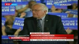 Bernie Sanders humbly concedes Defeat and thanks his supporters for a well deserved run