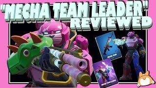 "Complete Honest Review: Fortnite ""MECHA TEAM LEADER"" Skin + ""MECHA TEAM"" Wrap + COMBOS /NEW"
