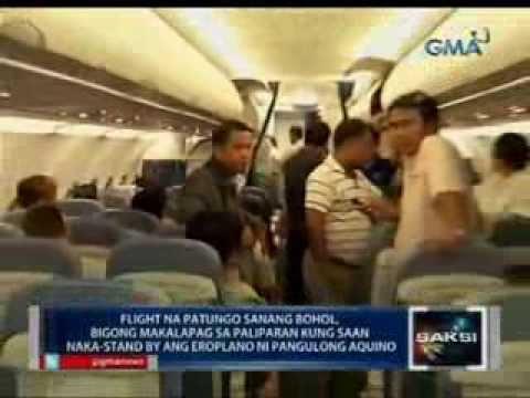 Flight pa-Bohol, bigong makalapag sa Tagbilaran dahil naka-standby ang eroplano ng pangulo