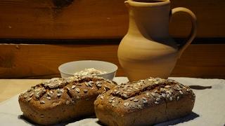 Домашний ржаной хлеб.