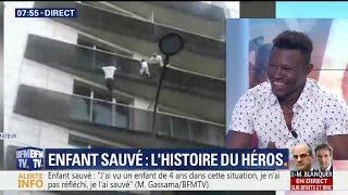 L'émotion de Mamoudou Gassama sur BFMTV quelques heures avant de rencontrer le Président