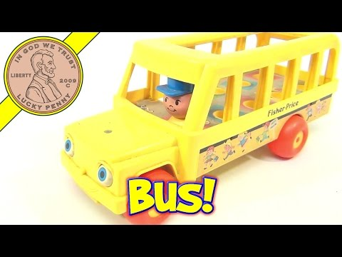 Fisher-Price Vintage Little People School Bus #192 From 1984
