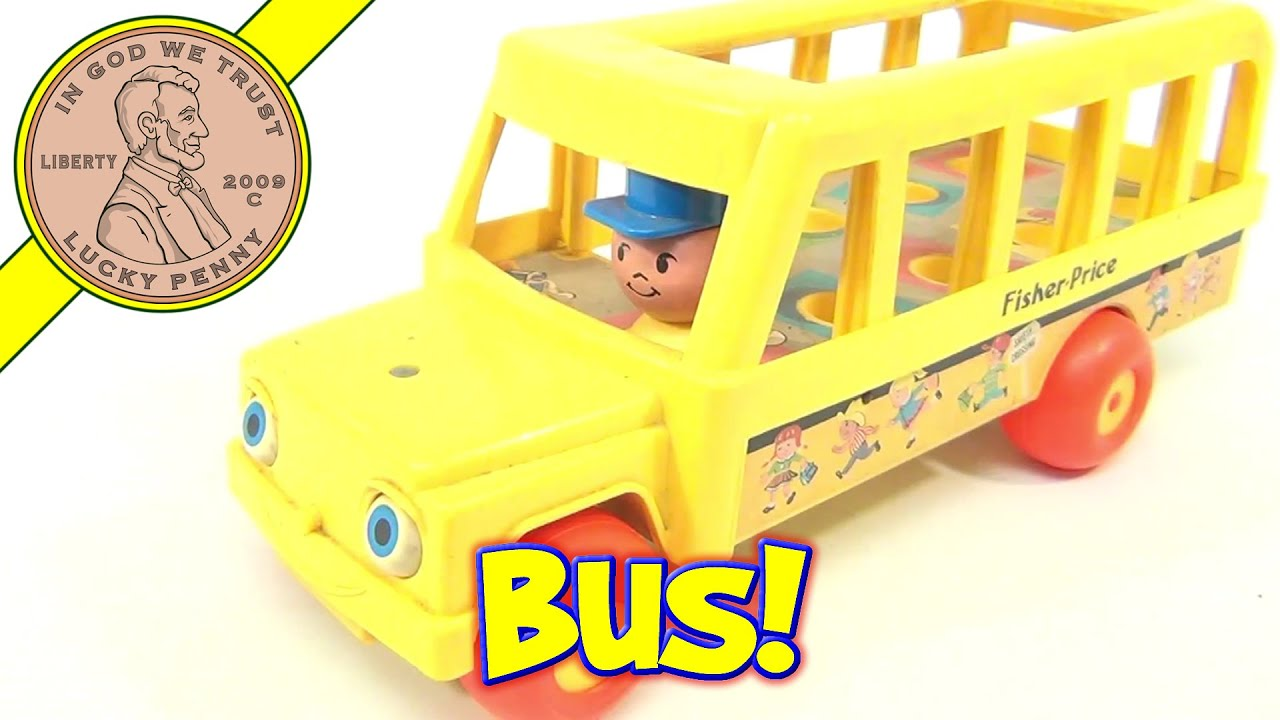 fisher price vintage little people school bus 192 from 1984 youtube. Black Bedroom Furniture Sets. Home Design Ideas