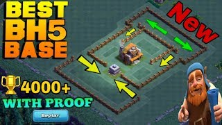 BUILDER HALL 5 (BH5) BASE LAYOUT | BEST BH5 BASE COC WITH REPLAYS | CLASH OF CLANS