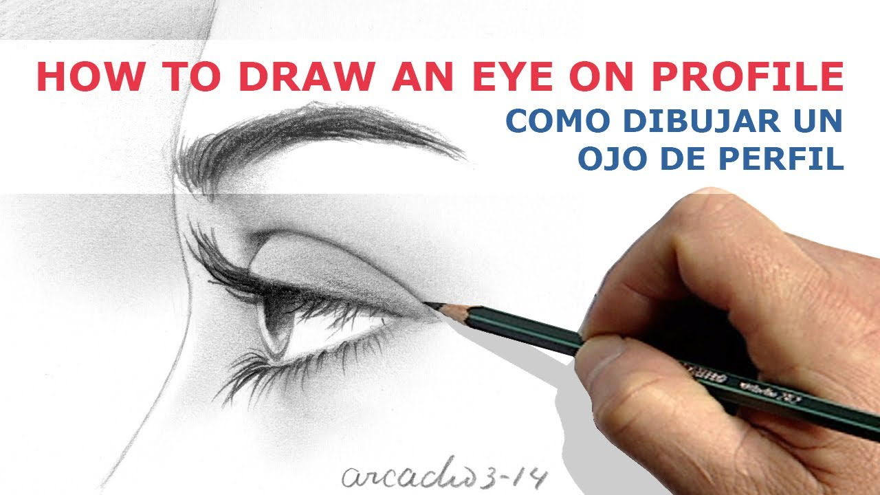 HOW TO DRAW AN EYE ON PROFILE COMO DIBUJAR UN OJO DE PERFIL