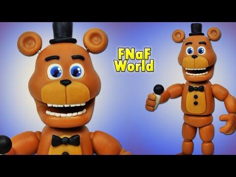 FNaF World ★ Adventure Freddy Tutorial - Porcelana Fria ★ Polymer Clay ★ Plastilina