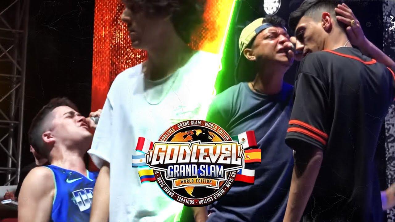 Download Las MEJORES RIMAS de la GOD LEVEL FEST GRAND SLAM! 4VS4! 🇦🇷🇲🇽🇵🇪🇪🇸🇨🇴🇻🇪🇨🇱 [Segunda FECHA]