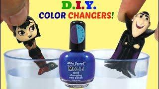 Hotel Transylvania 3 D.I.Y. Color Changing Nail Polish Makeover feat. Drac & Mavis