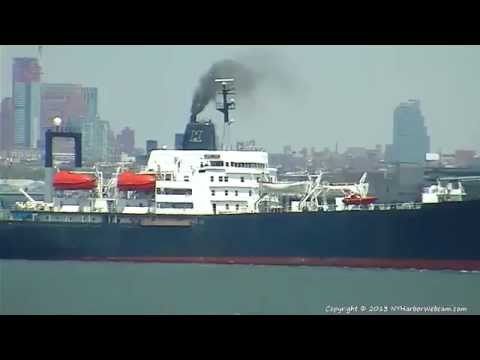 TS EMPIRE STATE VI Departs New York Harbor 05-13-2013