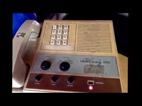 Old Vintage Phone Messages Off Of An Old  80s Answering Machine Mystery Caller