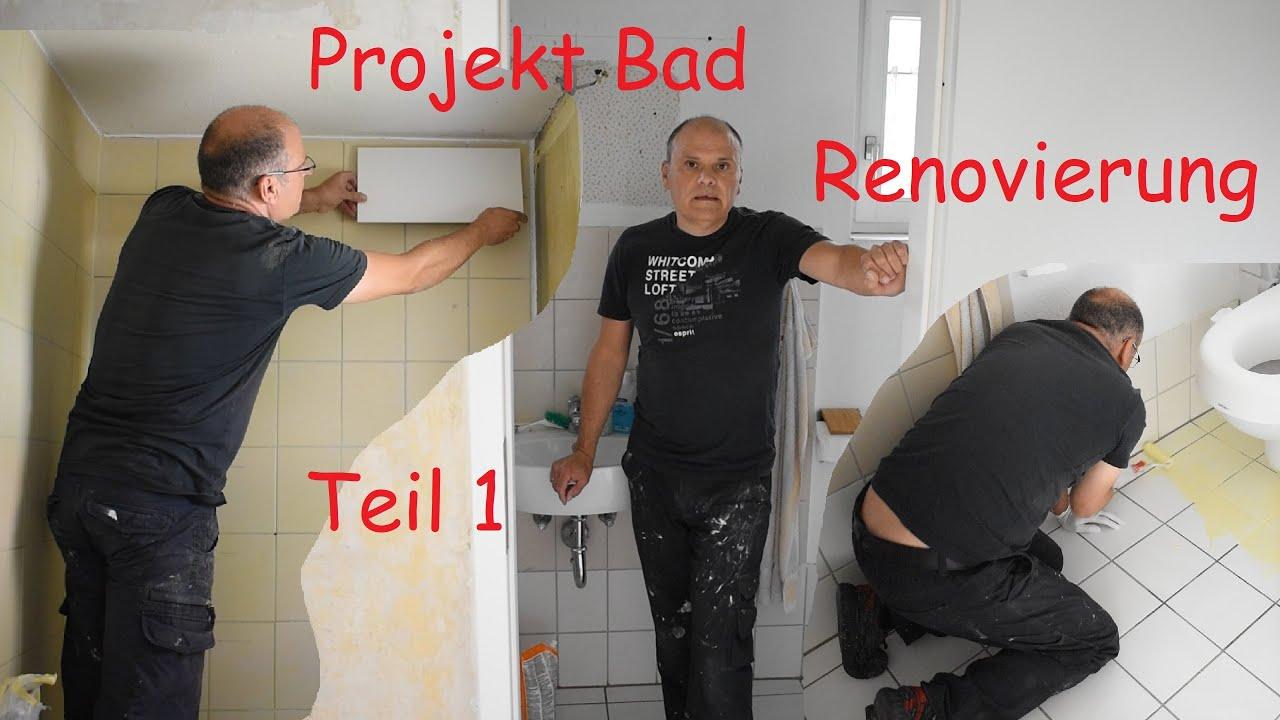 Ich renoviere ein kleines Bad  --Teil 1--