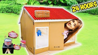 Living In A Mini House 🏡  For 24 HOURS Challenge | *Rula Diya Mujhe* | SAMREEN ALI