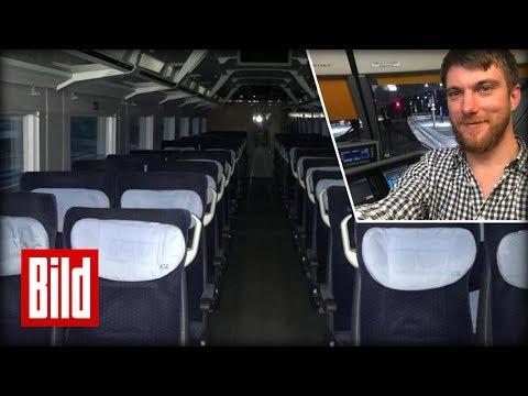 Geisterfahrt im ICE - BILD Reporter komplett alleine im Zug