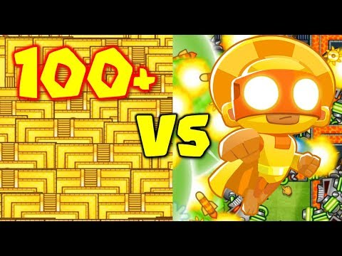 100+ TEMPLES VS 10 MAX TEMPLES! CRAZY SPEED BANANZA LATEGAME - Bloons TD  Battles