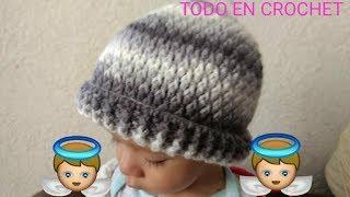 Gorro para hombre a crochet (punto lluvia a crochet) ganchillo