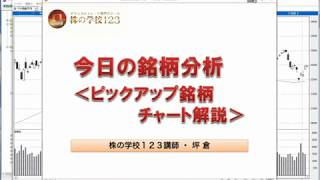 【株の学校123】(2018年6月4日)今日の銘柄分析<ピックアップ銘柄チャート解説>