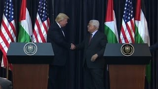 Trump meets with Palestinian leader (full speech)
