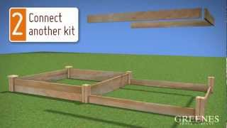 How To Build A Raised Garden Bed Out Of Cedar | Greenes Raised Garden Kit