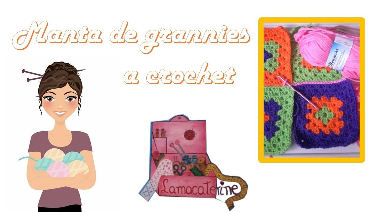 Manta hecha con grannies en la técnica de ganchillo o crochet - YouTube