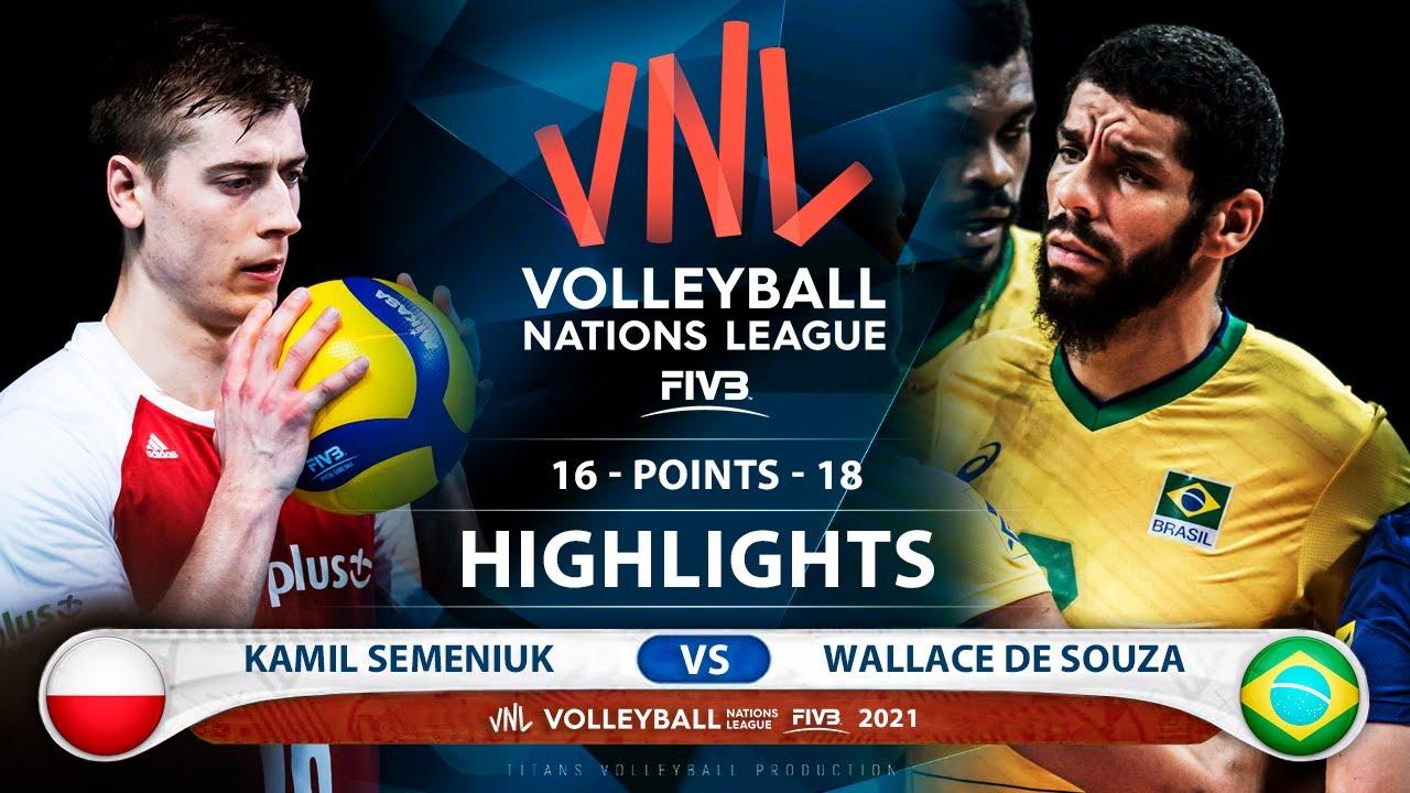 Download Poland vs Brazil | VNL 2021 | HIghlights | Kamil Semeniuk vs Wallace De Souza