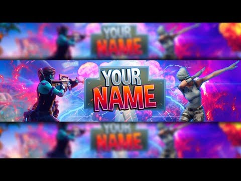 100 Free Fortnite Channel Art Banner Template Photoshop Youtube