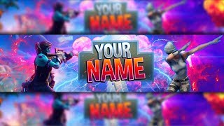*100% FREE* Fortnite: Channel Art Banner Template [Photoshop]