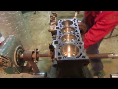 ремонт приоры,сборка двигателя на 124 поршнях без встречи клапанов