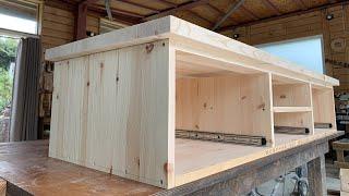 [Woodworking] Making A TV Stand / [목공] TV 스탠드 만들기