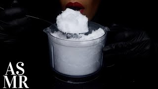 ASMR MAKING AND EATING FINE BLENDED CRUSHED ICE/HALF MOON ICE/BIG BITES/NO TALKING/ICE EATING SOUNDS