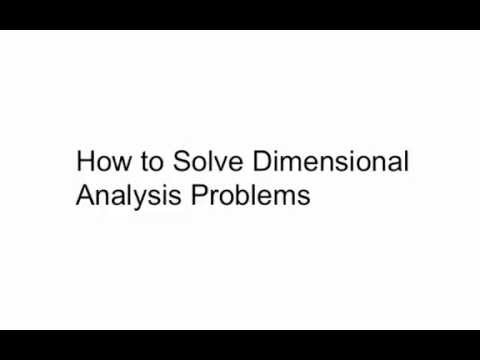 How to Solve Dimensional Analysis Problems