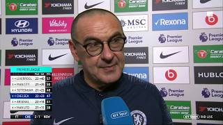 Sarri pleased with result, but concerned by performance vs Newcastle