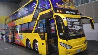 Laos Bus รีวิวรถบัส สปป.ลาว (รถนอน) ย๊าวยาว 15 เมตร สองชั้น (รถนอนจริงๆนะ) Sleeper Bus Review [HD]