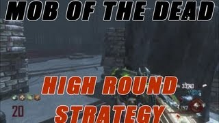 Mob Of The Dead: Golden Gate Bridge High Round Strategy SOLO Guide! (Black Ops 2 Uprising Zombies)