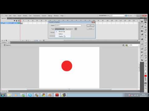 Flash action script 2 1st tutorial changing frames and buttons