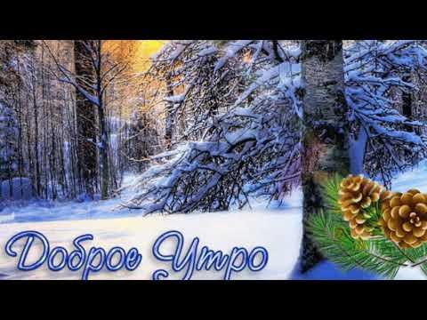 С Добрым Зимним Утром! Очень Красивое пожелание Доброго Утра! Музыкальная открытка