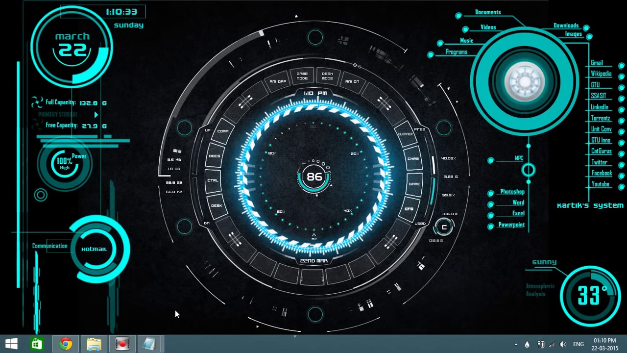 How to: Install The Jarvis (Iron Man) Theme on Windows 7,8,8 1,10 HD