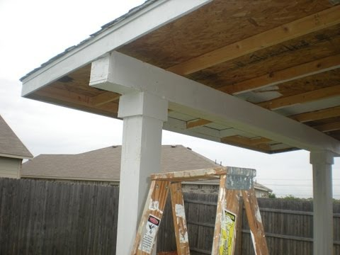 How to build a patio cover. pt 2(Must see edition)