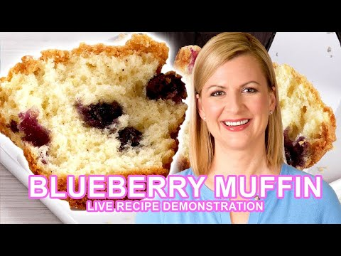 Anna Olson Bakes Blueberry Muffins LIVE! | Oh Yum 101