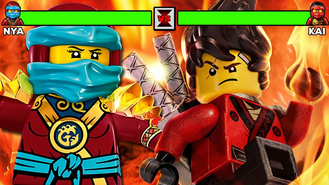 Lego ninjago movie kai vs nya with healthbars youtube - Ninjago vs ninjago ...