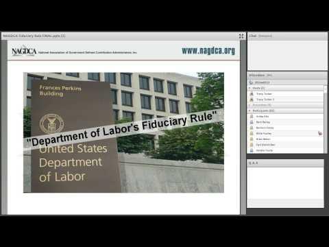 NAGDCA Fiduciary Rule Webinar