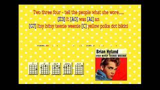 Brian Hyland ~ Itsy Bitsy Teenie Weenie Yellow Polka Dot Bikini