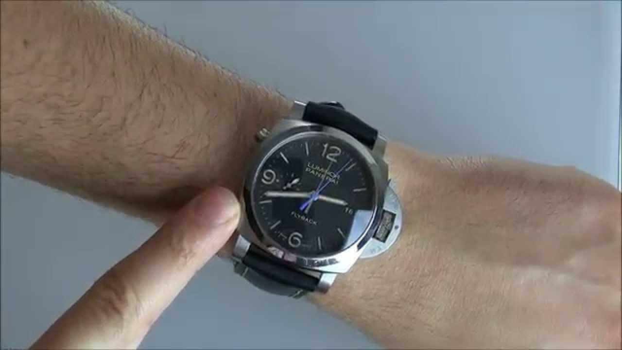 1109241d2827 Panerai Luminor 1950 3 Day Chrono Flyback Automatic PAM524 Watch ...